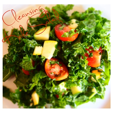 Cleansing Kale Salad - The Savory and The Beautiful