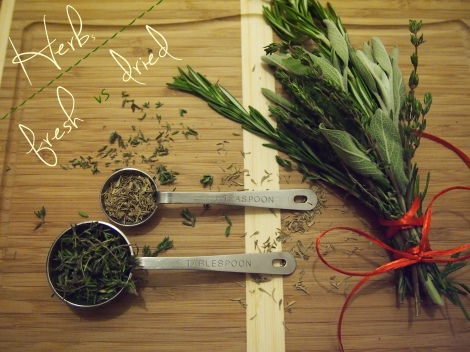 Fresh vs. Dried Herbs - The Savory and The Beautiful