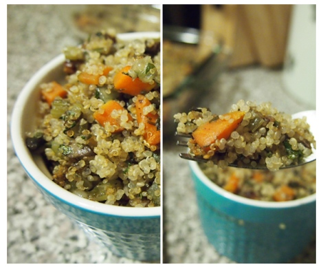 Thanksgiving Quinoa Stuffing - The Savory and The Beautiful