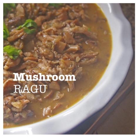 Mushroom Ragu | The Savory and The Beautiful